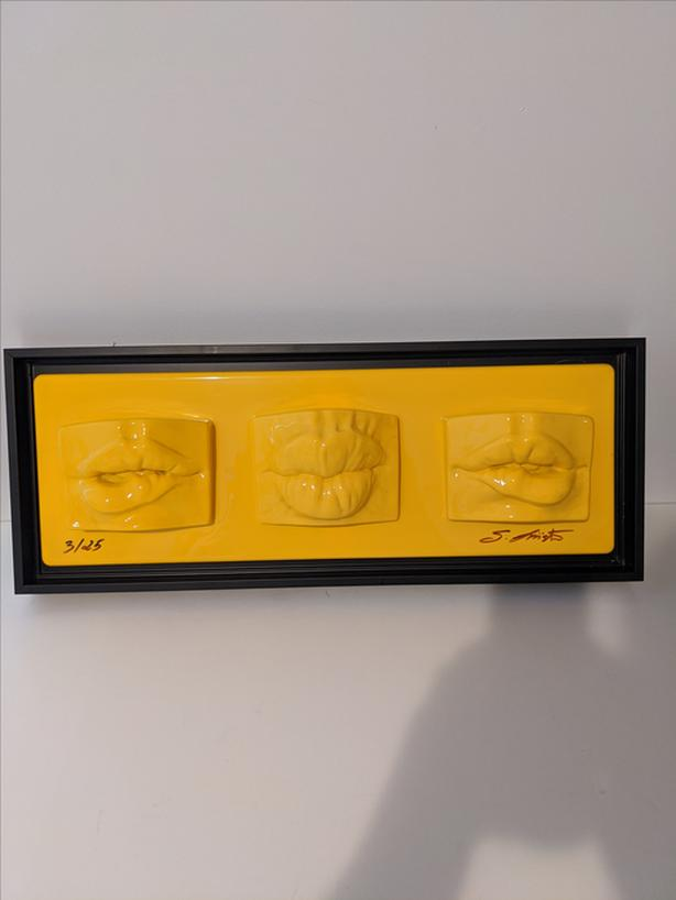 SALVATORE LIISTRO Limited Edition Art // Numbered 3/25 // Yellow Lips