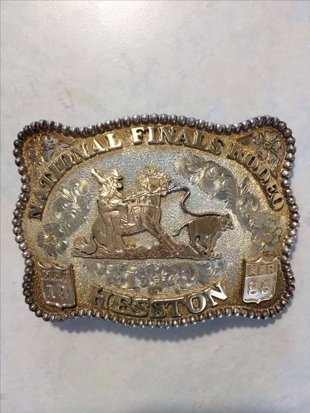 Hesston National Finals Rodeo 1985 Belt Buckle