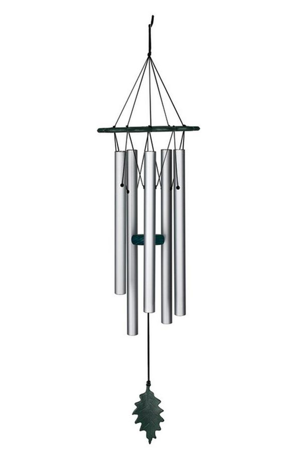Woodstock Verdigris Windchime with Leaf Accent Brand New