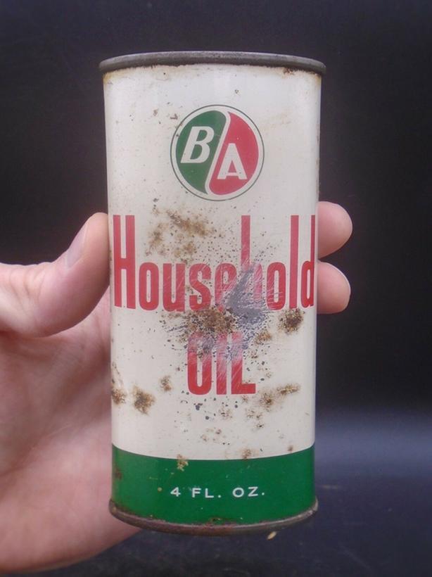 VINTAGE 1950's B/A HOUSEHOLD OIL (4 OZ.) HANDY OILER CAN