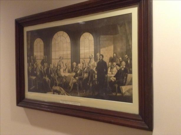 Fathers of Confederation print in original frame