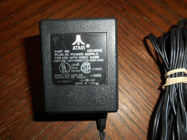 OEM Atari 2600 power adapter C016353