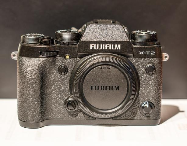 Fuji X-T2 with 18-55mm lens and hand grip