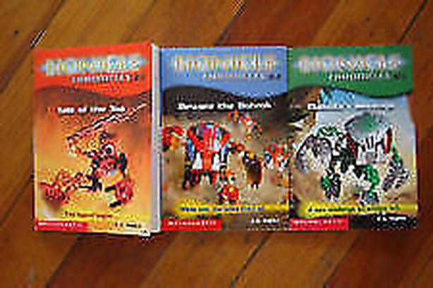 books bionicle chronicles,four  lego characters books
