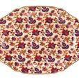 Large Jaipur Cream Ceramic Platter Serving Tray with Gold Trim NEW