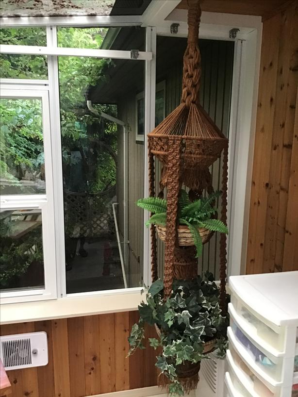 Large macrame hanging planter