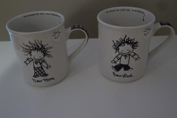 EACH! 2 original coffee mugs for new mom and dad.Or 2 for $15.00
