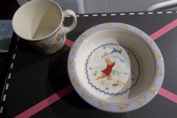 Royal Doulton.Bunnykins bowl and cup.$10.00 each!