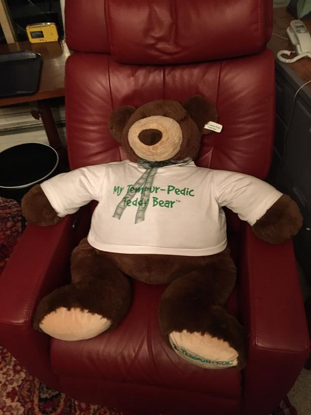 Huge vintage Tempur-Pedic teddy bear.