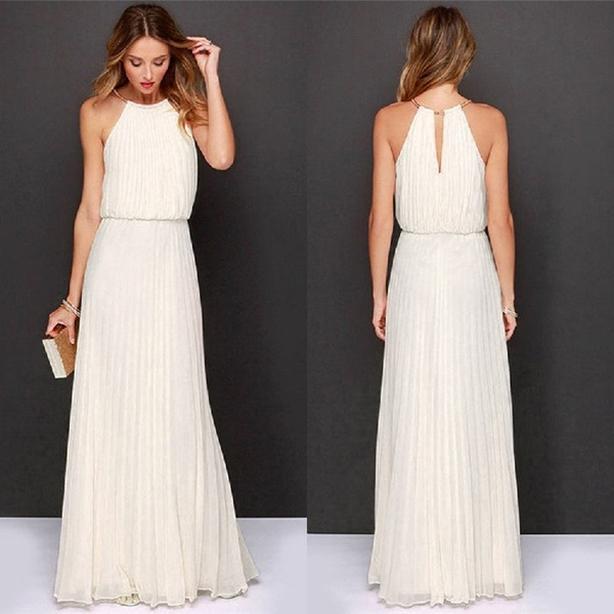 SOFT WHITE CHIFFON DRESS