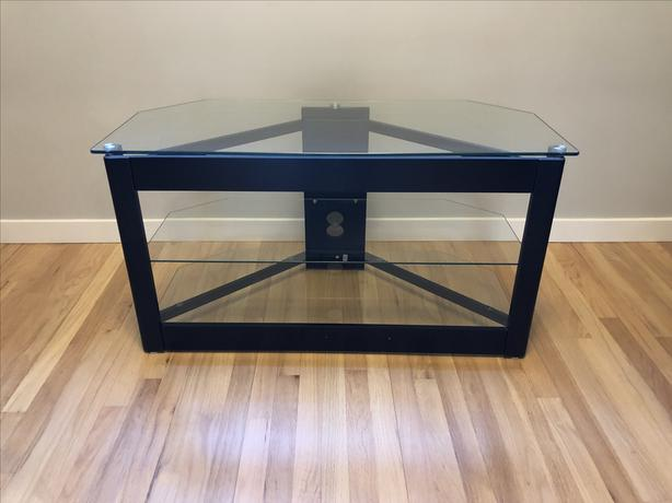FREE: TV Stand with Glass Shelves