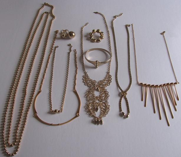 Vintage Costume Jewelry Sarah Coventry Bracelet Necklace Ring Gold Balls 11PC
