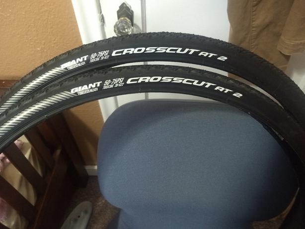 New Road Tires: Giant Tubeless Ready, 700X38C Crosscut at 2