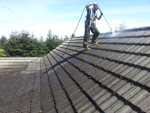Roof Cleaning & Spray on Coating