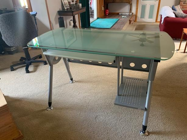 -Frosted Glass top Desk-