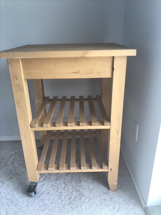 Solid Wood Mini Island / Cart