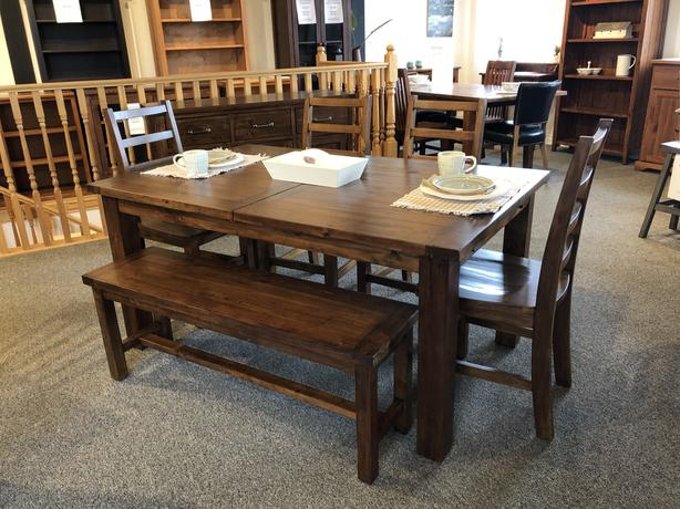 New Reclaimed Solid Wood Dining Set