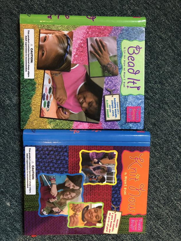 Beading and Knitting Books- Great for at-home learning