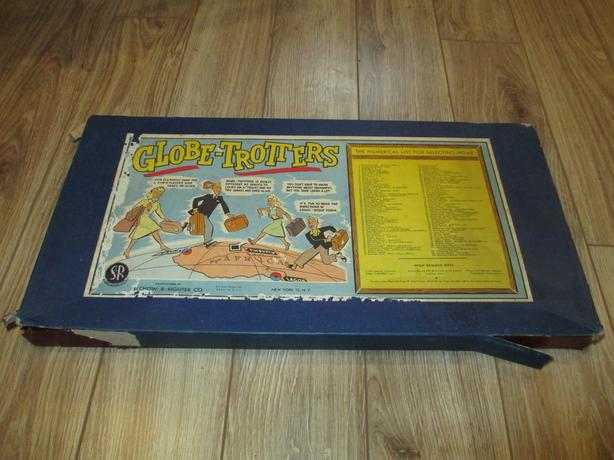 Globe-Trotters board game Selchow & Righter COMPLETE 1950