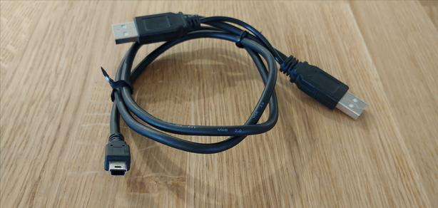 Double USB 2.0 to Mini-USB Cable 80cm (2.6ft)