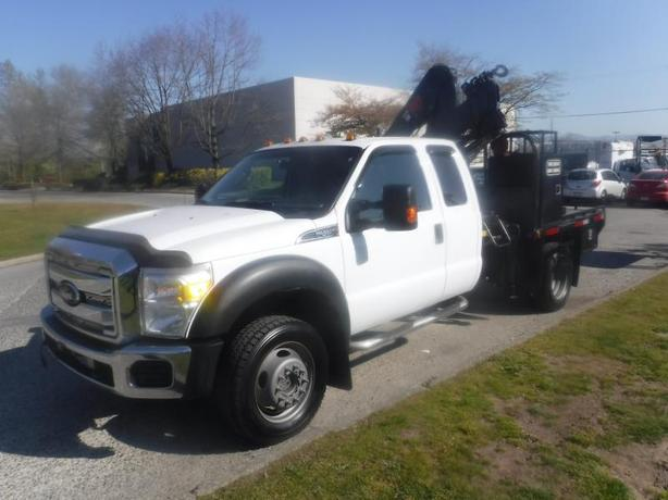 2012 Ford F-450 SD Flat Deck 8 foot with Crane 4WD