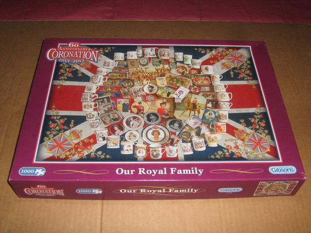 GIBSONS  1000  PIECES  JIGSAW  PUZZLE  -  OUR  ROYAL  FAMILY