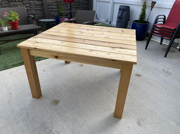 Cedar Patio Table $300
