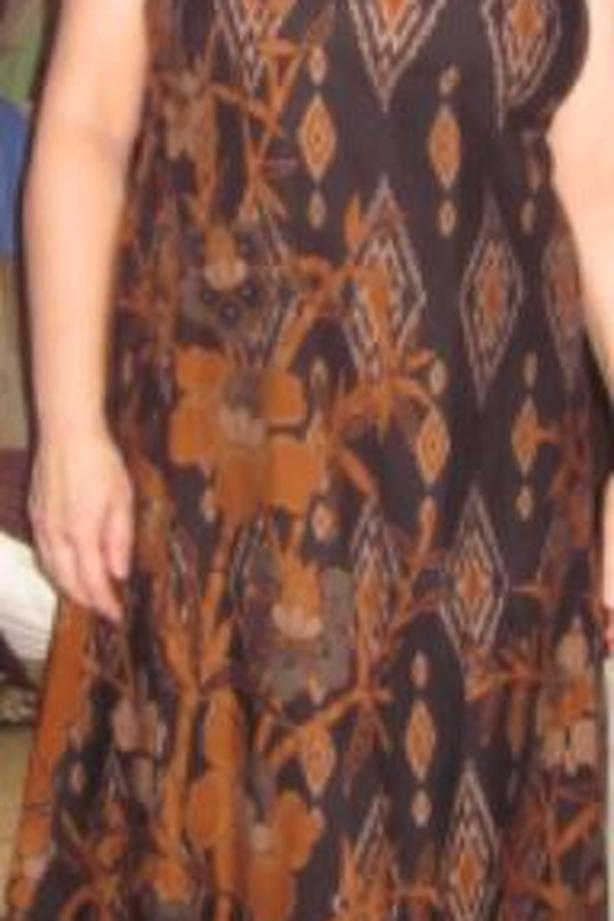 Long, Cotton, New, Beautiful Print Dress
