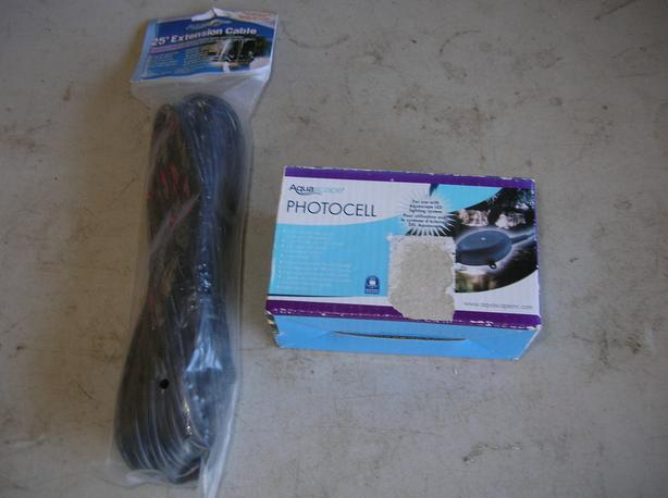 New Aquascape Photocell Pond and Lighting Extension Cord.  (145 1409)   **