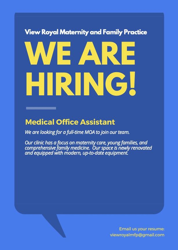 Medical Office Assistant in a beautiful, newly renovated clinic