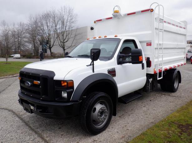 2008 Ford F-550 Regular Cab Dump Chipper Truck 11 Foot 2WD Diesel