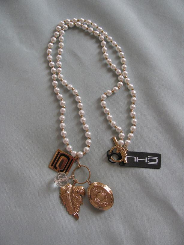 Designer Nikki Chu Pearl Necklace Real Working Buddha Locket Brand New