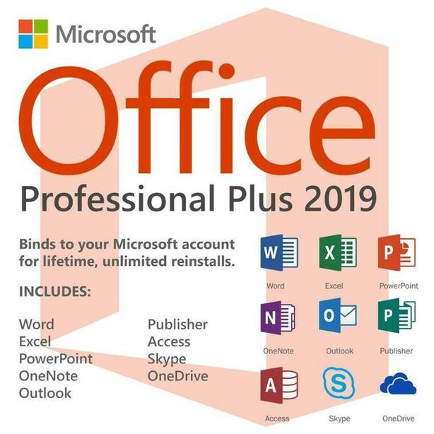 MS Office Professional Plus 2019  (1 PC- License Key)