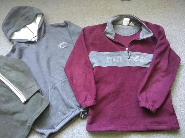 LOT OF 3 TEEN BOY'S FLEECE PULLOVERS