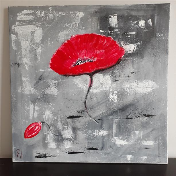 """SOLD pending pick up.  Original Acrylic Painting on Canvas, 20"""" x 20"""""""