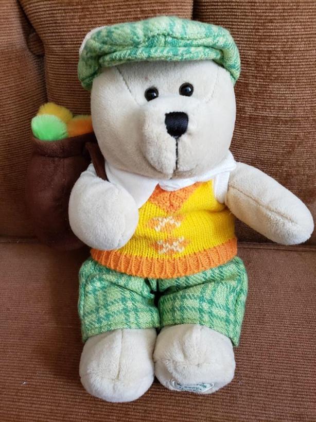 2006 Golfing Starbucks Bearista Bear