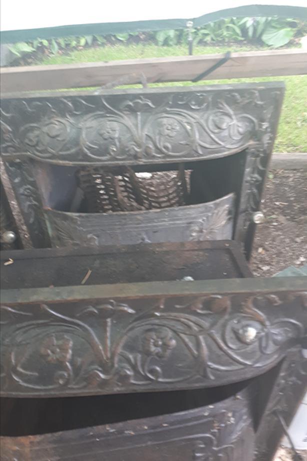 Beautiful Antique Ornate  fireplace inserts