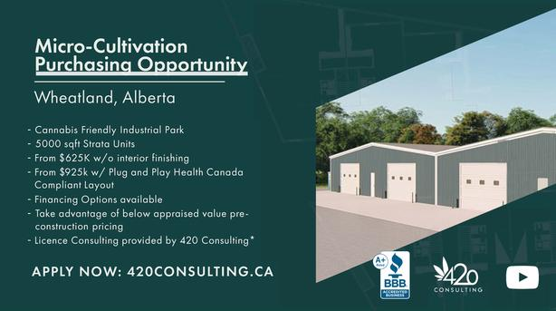 Units for Sale in Cannabis Business Park