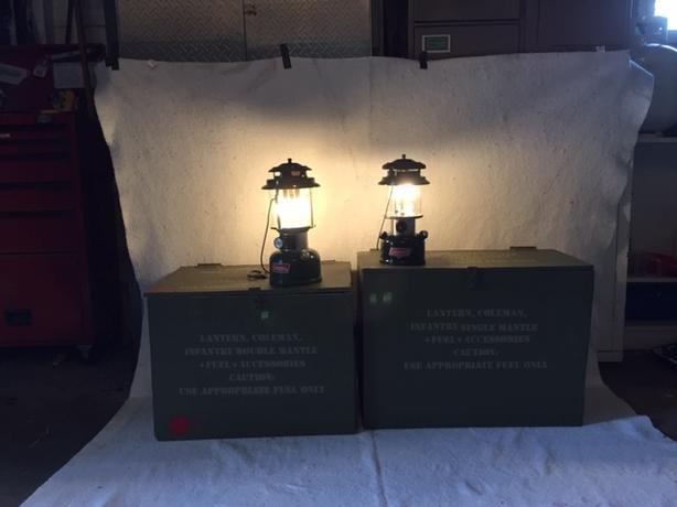 Lantern, Coleman, Infantry/Double mantle+Fuel+accessories