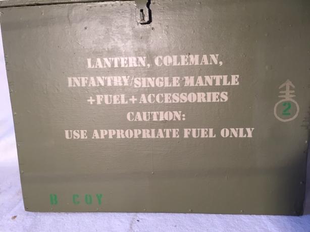 Lantern, Coleman, Infantry/Single mantle+Fuel+accessories
