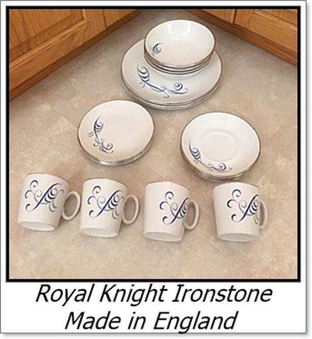 Royal Knight Dishes - Sky Swirl Pattern - Ironstone made in England $20