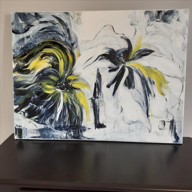 "Original Acrylic Painting on Canvas, 18"" x 24"""