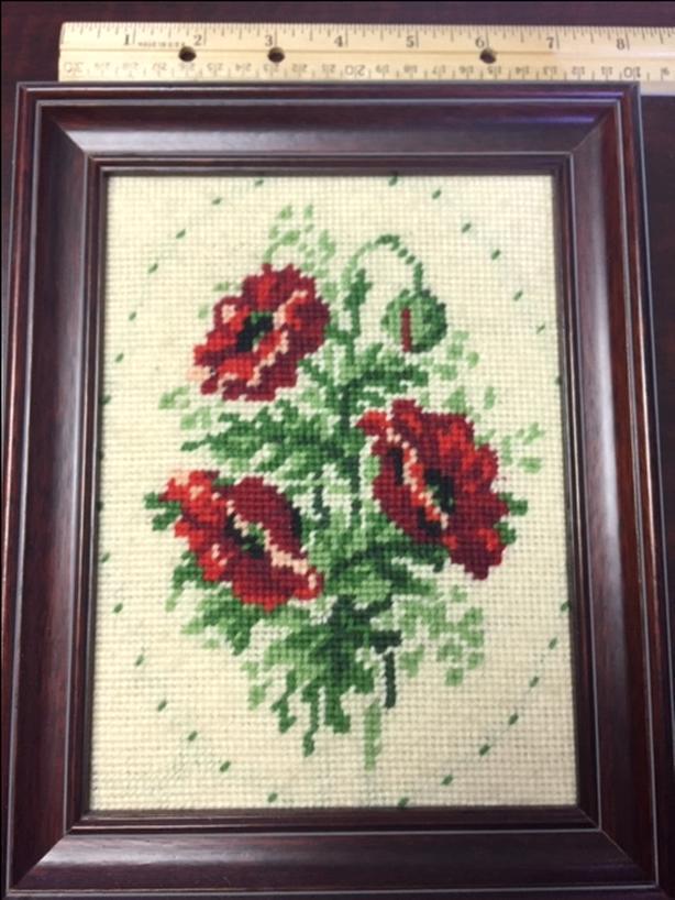 Poppies Cross Stitch Needle Point Poppy