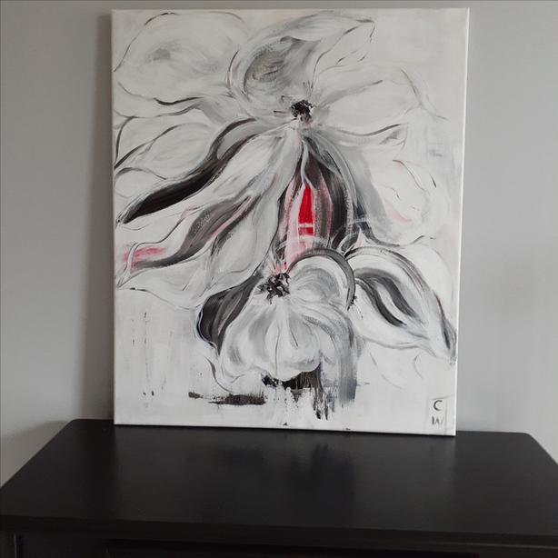 "Original Acrylic Painting on Canvas, 20"" x 24"""