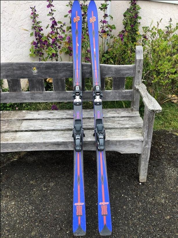 K2 Merlin 3 193 cm skis + bindings