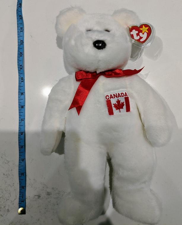 Vintage Rare Ty Beanie Baby Buddy Maple Bear Canada Day LNT Excellent Condition