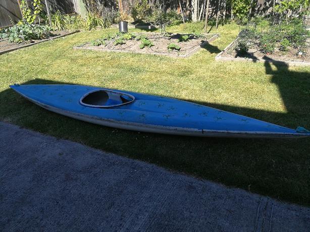 Fibreglass vintage kayak
