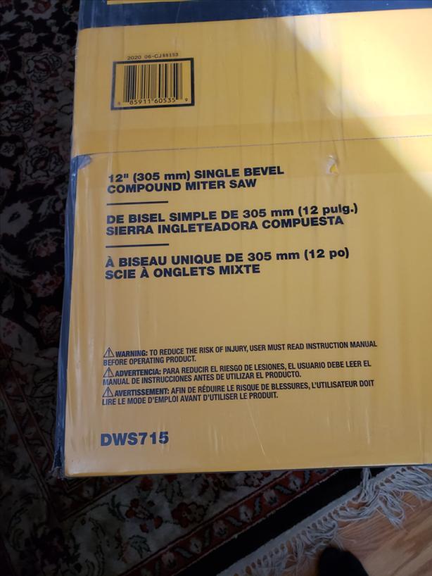 """Dewalt 12"""" Compound Mitre Saw - New in Box"""