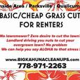 BASIC / CHEAP grasscuts for Renters / Landlords