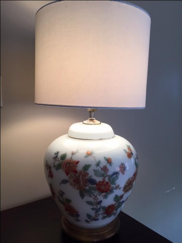 Decor Floral Lamp Shade White